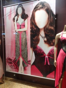 The censored storefront of a Victoria's Secret.