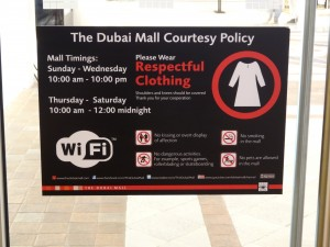 Posted on the doors to the Dubai Mail.