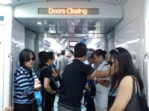 The Dubai metro.